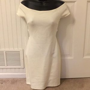 Forever 21 ivory off the shoulder dress small